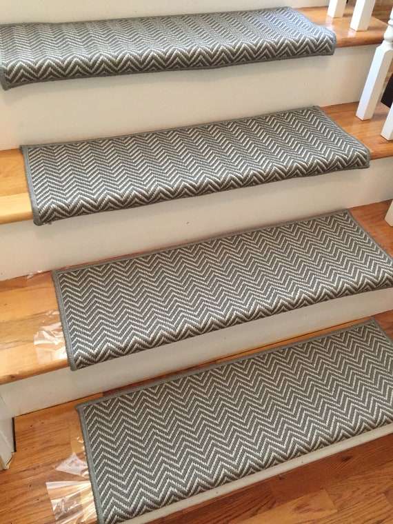 Hatteras Sandpiper-B Flatweave 100% UV Stable True Bullnose® Padded Carpet Stair Tread Runner Replacement Style Comfort Safety (Sold Each)
