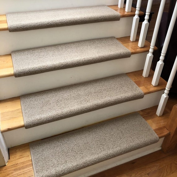 Charade Tussah 100% New Zealand Wool! - True Bullnose® Padded Carpet Stair Tread (Sold Each)