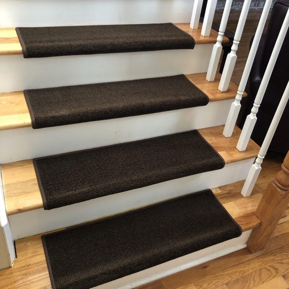 Charade Cappuccino 100% New Zealand Wool! - True Bullnose® Padded Carpet Stair Tread (Sold Each)