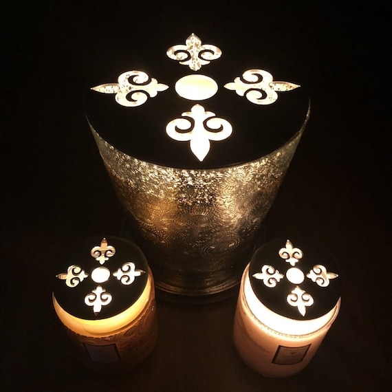 Voluspa 123 Oz Hearth & Voluspa 16 Oz Large Glass Jar Candle-Saver™ Brand Toppers Which Help Melt your Candle Evenly! AND Look Great!