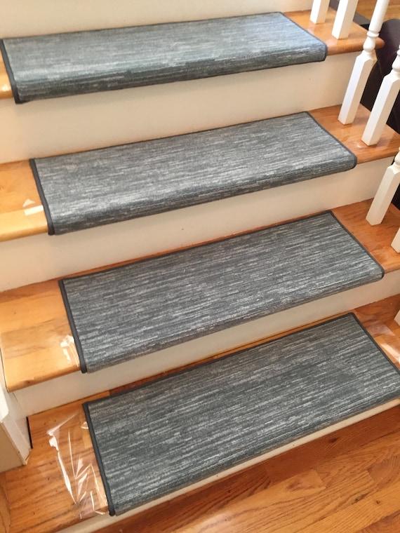 Velvet Chic Denim True Bullnose® Padded Carpet Stair Tread - For Safety Comfort Dog Cat Pet (Sold Each)