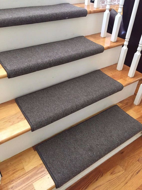 Bristol Dark Brown New Zealand Wool!-True Bullnose® Padded Carpet Stair Tread Runner Replacement for Style, Comfort and Safety (Sold Each)
