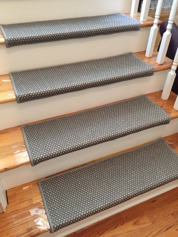 Corolla Sandpiper-B Flatweave 100% UV Stable True Bullnose® Padded Carpet Stair Tread Runner Replacement Style Comfort Safety (Sold Each)