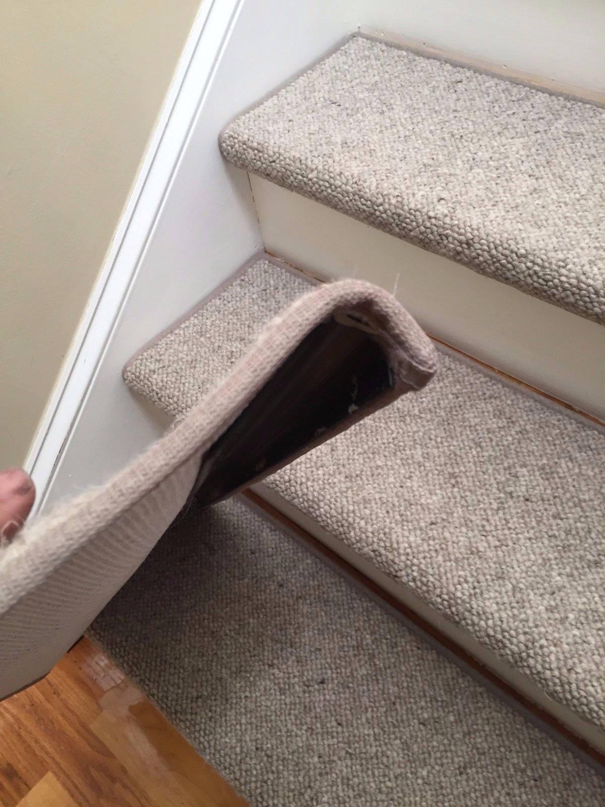 True Bullnose Carpet Stair Treads