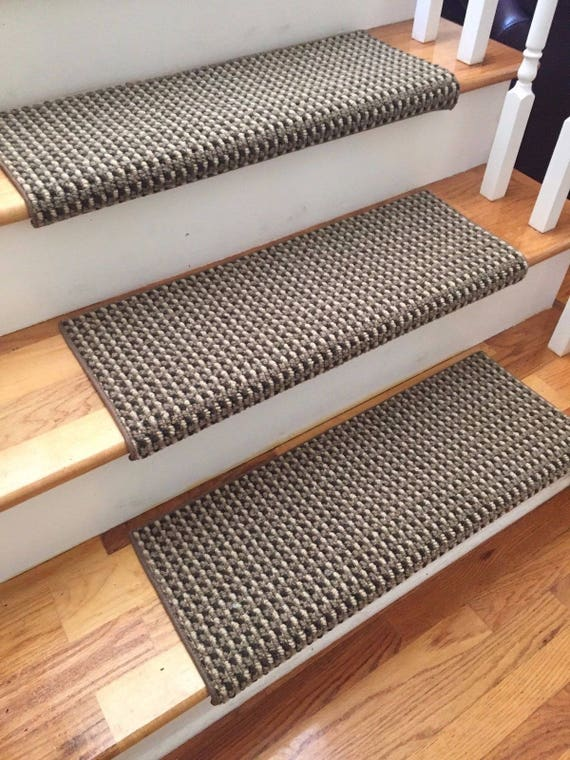 San Marco Cathedral Shadow New Zealand Wool True Bullnose® Padded Carpet Stair Tread Runner Replacement Style, Comfort & Safety (Sold Each)