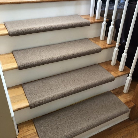 Wool Tip Shear II Suede New Zealand Wool True Bullnose® Padded Carpet Stair Tread Runner Replacement - Style, Comfort and Safety (Sold Each)