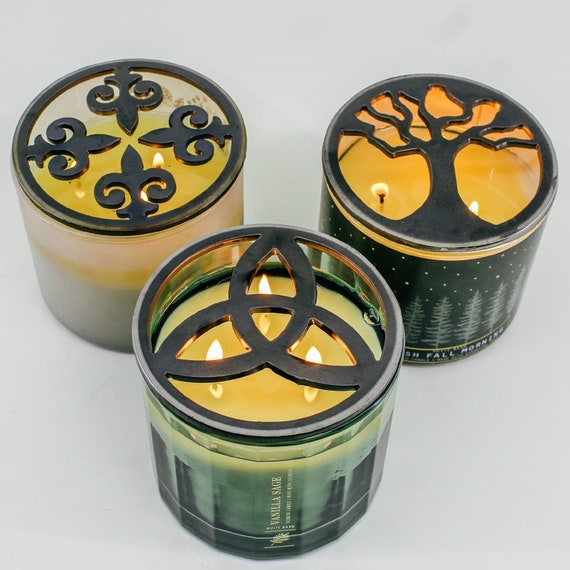Classic Shaped & Popular Handcrafted Candle-Saver™ Brand Toppers! Look Great AND Help Melt your Candle Evenly! Fit Yankee Candles and More!!