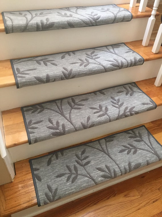 Arbor Vine Granite (and Other Colors) True Bullnose® Padded Carpet Stair Tread - For Safety Comfort Dog Cat Pet (Sold Each)