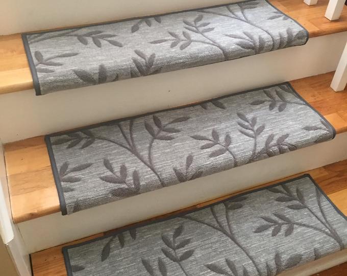 Arbor Vine Granite (and Other Colors) True Bullnose™ Carpet Stair Tread    For