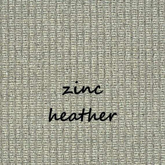 "OPEN BOX SALE! Set of 14 Rustic Charm Zinc Heather 100% Wool Padded True Bullnose® Carpet Stair Treads 35"" wide X 10"" deep"