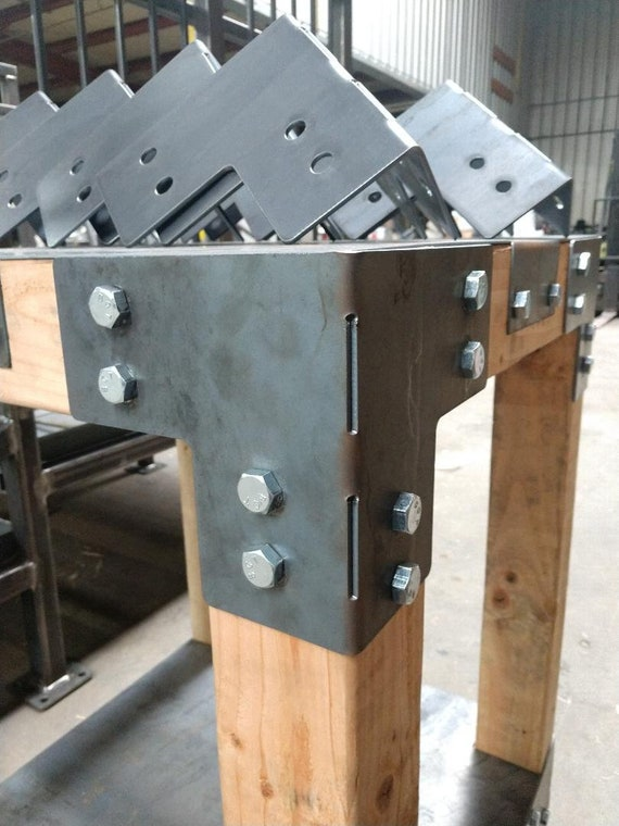 """PostHugger™ Brackets For 6x6 Wood Posts 