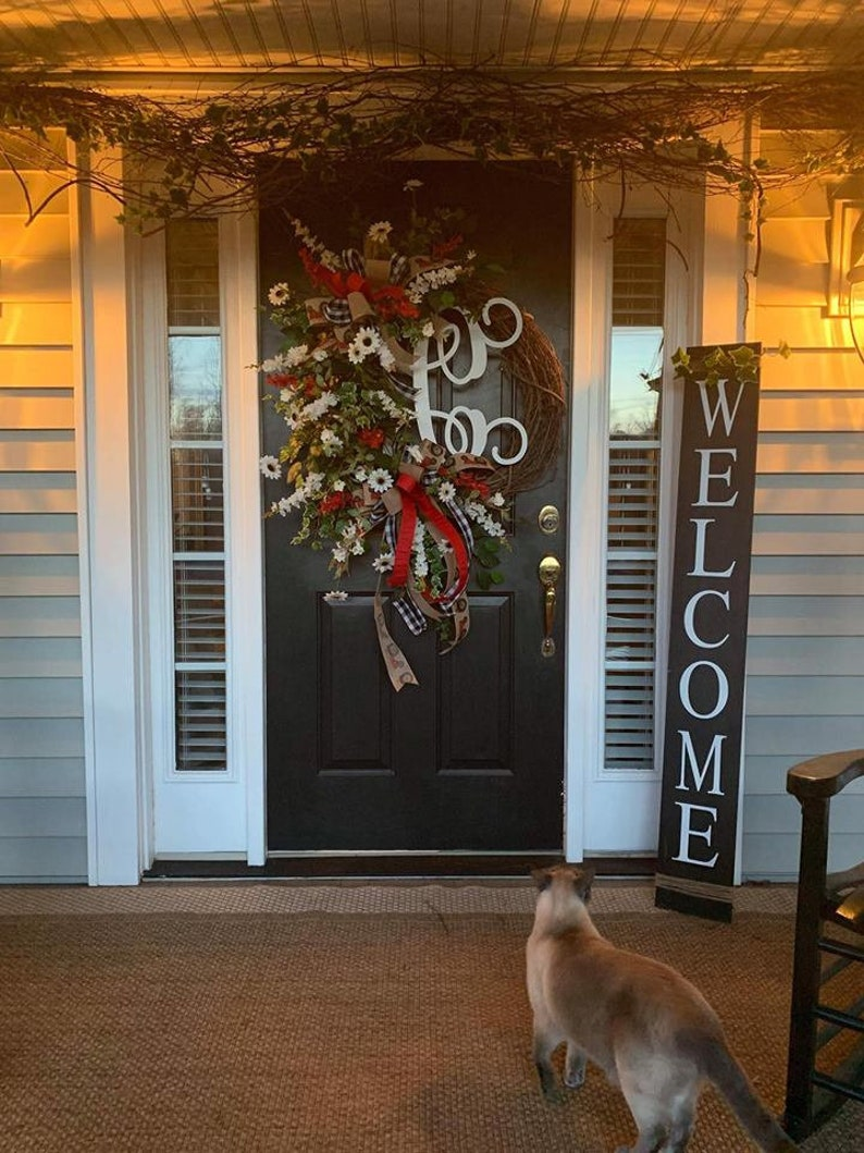Front Porch Welcome Sign 5 Foot Welcome Sign 4 Foot