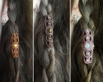 hippychic ring hair handmade rasta adorno dread ethnic rastafari dreadlock bead boho hippystyle Dread bead macrame anillo rasta
