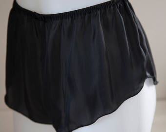 6dfab8241edb Silky Satin French Knickers Panties - Made in England - Black, White, Red,  Grey - sexy lingerie underwear
