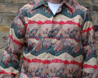 1970s printed polyester shirt