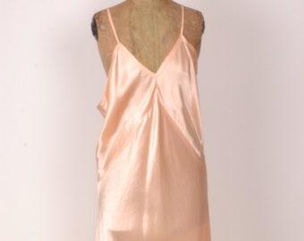 True vintage 1930s 1940s satin slip c6838e608