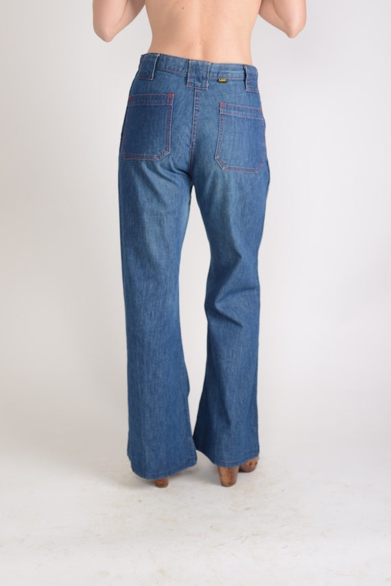 1970s Lee wide leg flared jeans, sailor pants, Mad