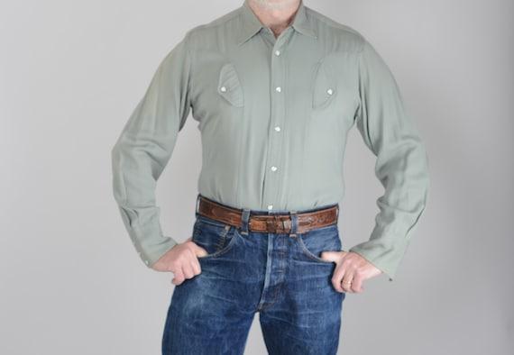 1940s Miller gabardine western shirt, 38', True Vi