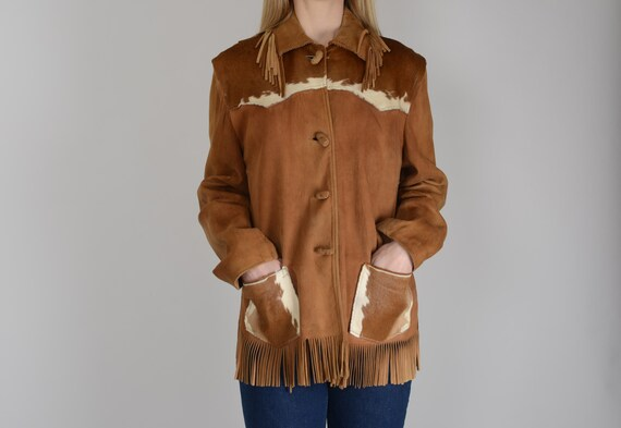 1940s 'Desert Suedes' suede leather ranch jacket w