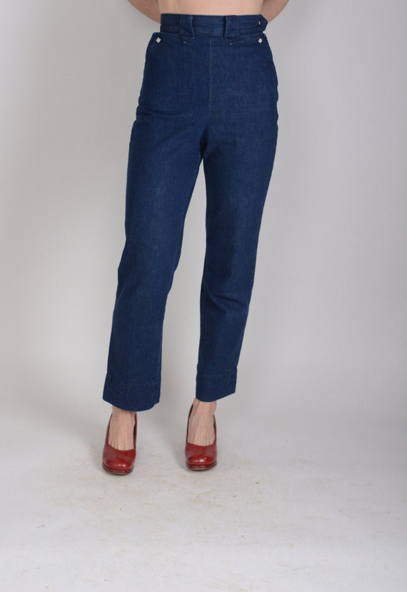 1950s Levis Shorthorn western side zip ranch pants