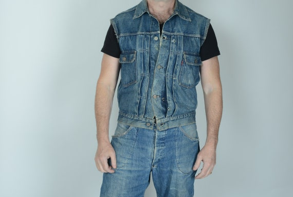 1950s Levis 507 type 2 cut off denim jacket Big E,