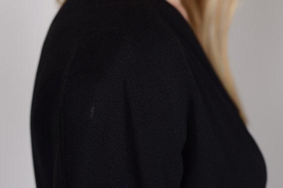 1940s Black crepe evening dress, evening gown, le… - image 9
