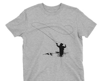 Fly Fishing - Organic Cotton - Mens Fishing T-Shirt