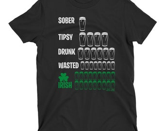 08978ee5 Drunk Stages St Patricks Day T-Shirt Mens Ladies Unisex