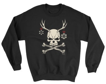 Funny Coffee Cool Sweater Jumper Skull DEATH BEFORE DECAF Sweatshirt JH030