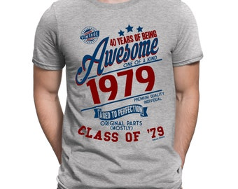 c57d43a4a Buzz Shirts 40 Years Of Being AWESOME Mens 40th T-Shirt Class of 1979 Birthday  Gift