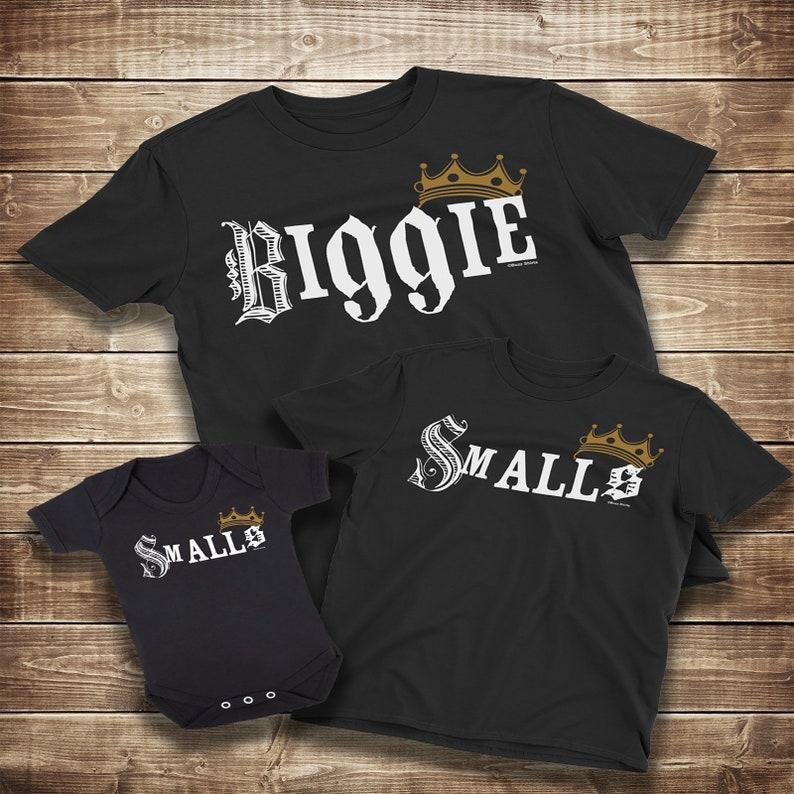 9389e770 BIGGIE Smalls Mens Matching T-Shirt DAD Son Daughter Family   Etsy