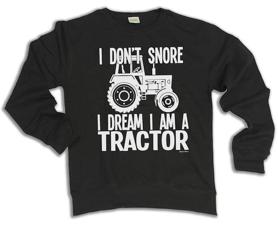Non russare sogno sono un FELpa con cappuccio TRACTOR o maglione compleanno compleanno fattoria di Natale