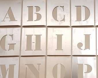large 4 inch letter stencil new single letter aluminum alphabet abc number brass wedding table metal brass zinc galvanized diy supply new