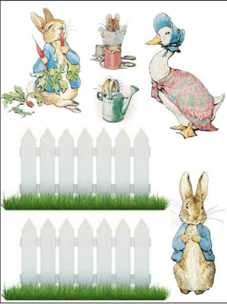 image regarding Printable Edible Cake Toppers named Peter rabbit icing sheet edible cake topper