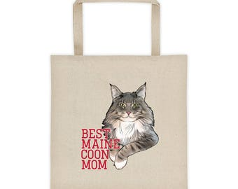 Best Maine Coon Mom Cat Tote bag