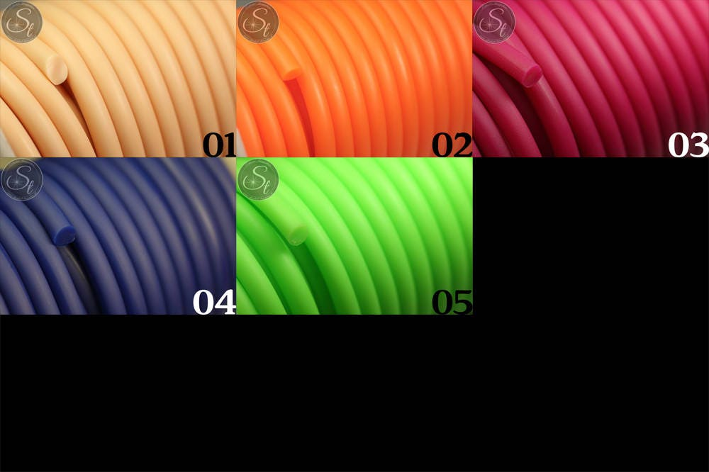 0 5 Metre Synthetic Rubber Cord In Many Colors 5mm