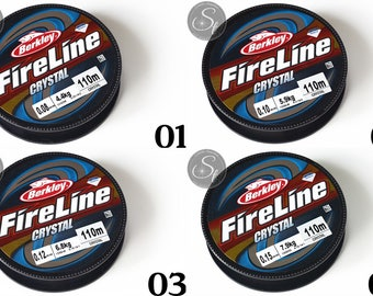Fireline Crystal cord in various thicknesses and lengths / / jewelry cord / thread / stringing beads / tear / sew / Soutache