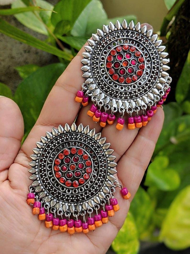 openable earrings,Afghani jewellery,studs tribal boho handcuff,handmade Bangles,handcuffs adjustable indian Jewelery,ethnic jewellery