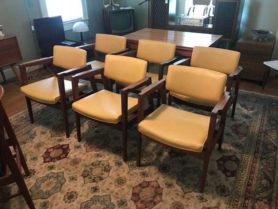 Miraculous Set Of 6 Mid Century Modern W H Gunlocke Chair Co Gmtry Best Dining Table And Chair Ideas Images Gmtryco