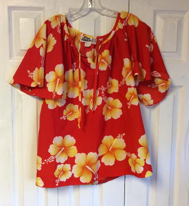 Hawaiian Ladies Shirt Vintage large