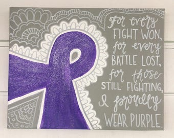Cancer Ribbon Relay For Life Painting