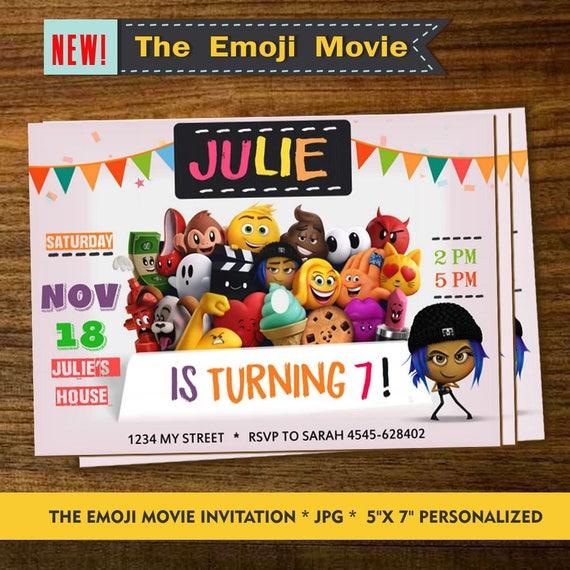 EMOJI INVITATION Emoji Invitationes Birthday