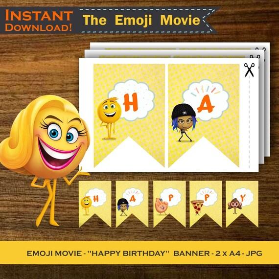 EMOJI MOVIE BANNER Instant Download Printable Emoji Backdrop