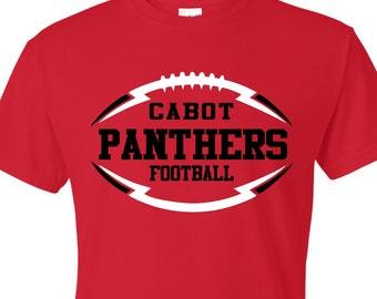affab972b School Spirit Football Shirt, Football Shirt, Custom Design Tees, Team  Sports Fan, Back to School Shirt, Football Dad Shirt, Football Fan