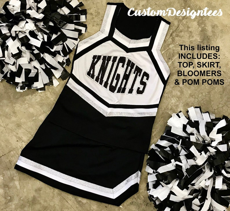 aee7551922 Cheerleader Uniform Set Girls Cheer Uniforms Ladies Cheer | Etsy
