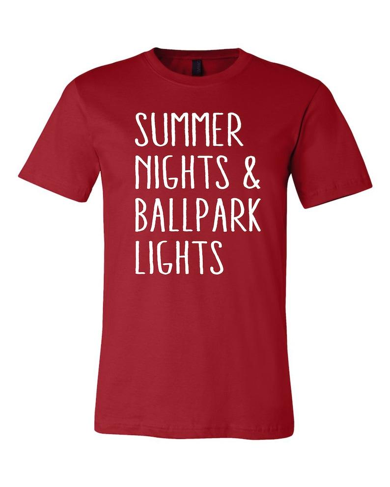 0e5fac87 Summer Nights And Ballpark Lights Shirt Softball Shirt | Etsy