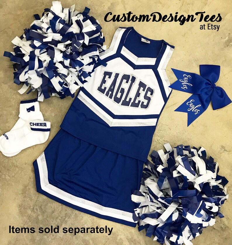11816afa06 Cheerleader Uniforms Girls Cheer Uniforms School Spirit | Etsy