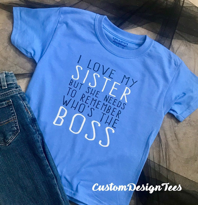 746e5c702 Big Sister Shirt Big Brother Shirt I'm the Boss Little | Etsy