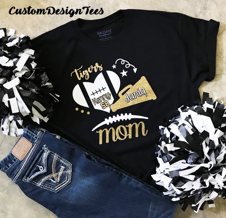 87cad656ce2 Football Mom Shirt Cheer Mom Shirt School Spirit Shirt | Etsy