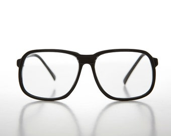 073abe4c553 Big Square Black Vintage Reading Glasses   Optical Quality   80s   1.00    1.50   2.00   2.50   3.00   3.50 Diopters - Harold
